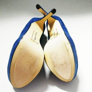 Chinese Laundry Shoes - Chinese Laundry Blue Suede Platform Heels